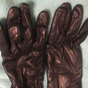 Fratelli Orsini Leather cashmere gloves black 8